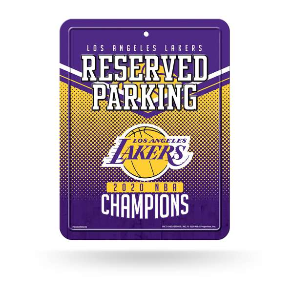 Los Angeles Lakers  2020 NBA Champions HIGH-RES METAL PARKING SIGN