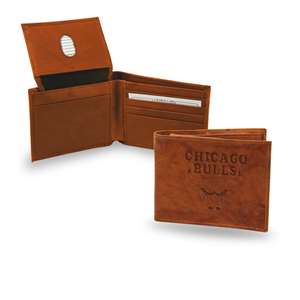 Chicago Bulls Rico Embossed Leather Bill-Fold Wallet