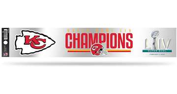 Kansas City Chiefs Super Bowl LIV 54 Champions Tailgate Sticker