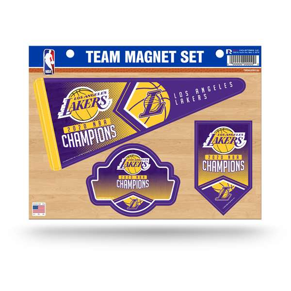 Los Angeles Lakers  2020 NBA Champions TEAM MAGNET SET