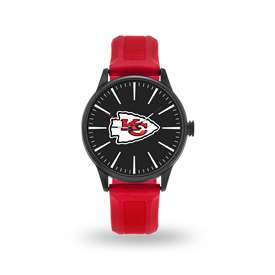 Kansas City Chiefs Sparo Leather Fashion Watch & Faux Leather Tri-Fold Wallet