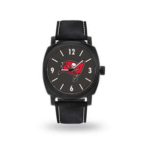 Tampa Bay Buccaneers  Sparo Genuine Leather Black Strap Knight Watch