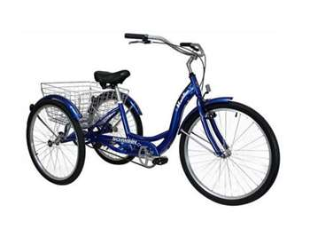 Schwinn Meridian Adult 26-Inch 3-Wheel Bike (Blue)