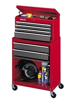 Stack-On SC-600 6-Drawer Tool Chest/Cabinet Combo, Red
