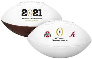 Rawlings 2020-2021 Official NCAA College Football National Championship Dueling Football - Alabama vs. Ohio State Full Size