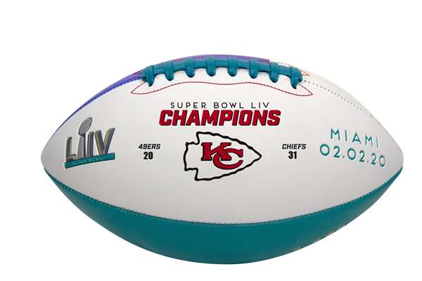 Kansas City Chiefs Super Bowl LIV 54 Champions Football - Full Size - Rawlings