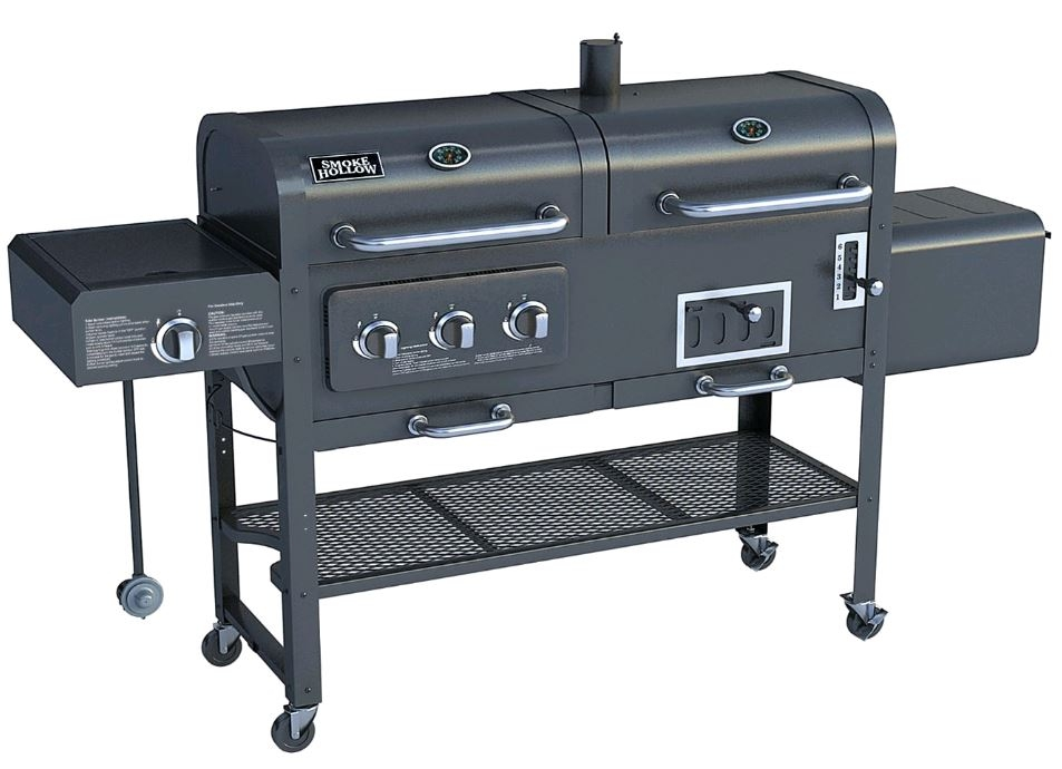 smoke hollow sh7000 gas charcoal smoker grill with. Black Bedroom Furniture Sets. Home Design Ideas