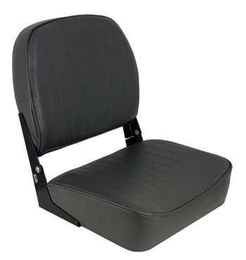 Springfield Economy Folding - Charcoal  Boat Seat
