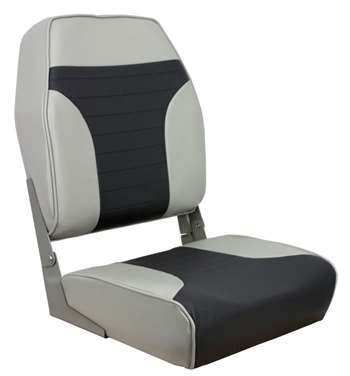 Springfield Economy Coach Folding High Back - Charcoal/Gray  Boat Seat