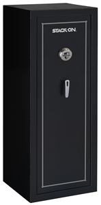 Stack-On SS-16-MB-B 16-Gun, Biometric Lock, Matte Black