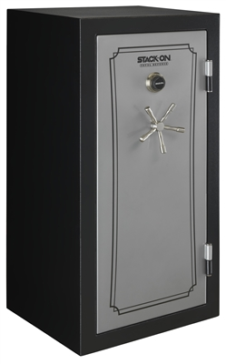Stack-On TD-40-SB-C-S 36-40 Gun with Combination Lock, Matte Black/Silver