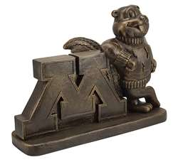 University of Minnesota Golden Gophers Bronze Finish Stone Mascot