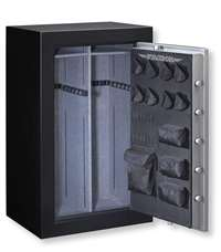 Stack-On TD14-36-SB-E-S Fire Resistant Waterproof Fully Convertible Total Defense Safe with Electronic Lock, 36 Guns