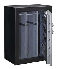 Stack-On TD14-54-SB-C-S Fire Resistant Waterproof Fully Convertible Total Defense Safe with Combination Lock, 54-Guns