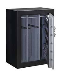 Stack-On TD14-54-SB-E-S Fire Resistant Waterproof Fully Convertible Total Defense Safe with Electronic Lock, 54 Guns