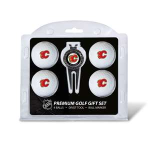 Calgary Flames Golf 4 Ball Gift Set 13306