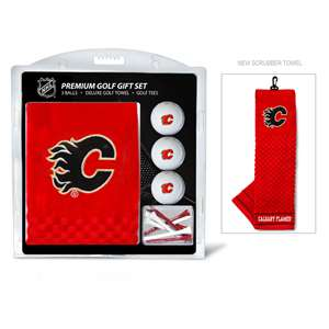 Calgary Flames Golf Embroidered Towel Gift Set 13320