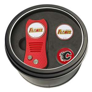Calgary Flames Golf Tin Set - Switchblade, 2 Markers 13359