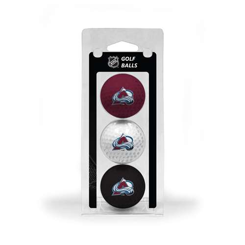Colorado Avalanche Golf 3 Ball Pack 13605