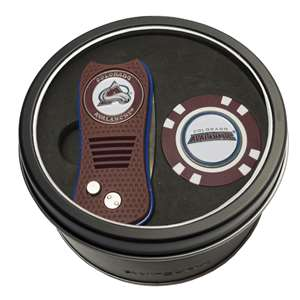 Colorado Avalanche Golf Tin Set - Switchblade, Golf Chip