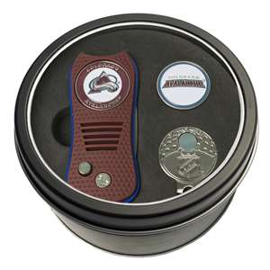 Colorado Avalanche Golf Tin Set - Switchblade, Cap Clip, Marker 13657