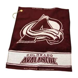 Colorado Avalanche  Jacquard Woven Golf Towel