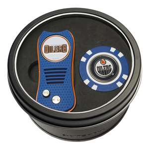 Edmonton Oilers Golf Tin Set - Switchblade, Golf Chip