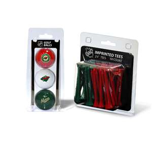 Minnesota Wild  3 Golf Balls And 50 Golf Tees