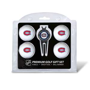 Montreal Canadiens Golf 4 Ball Gift Set 14406