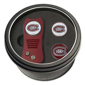 Montreal Canadiens Golf Tin Set - Switchblade, 2 Markers 14459