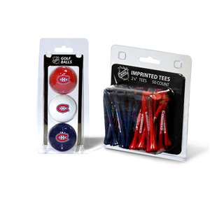 Montreal Canadiens  3 Golf Balls And 50 Golf Tees