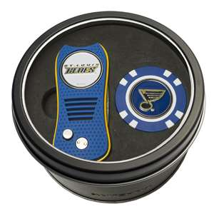 St. Louis Blues Golf Tin Set - Switchblade, Golf Chip