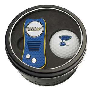 St. Louis Blues Golf Tin Set - Switchblade, Golf Ball