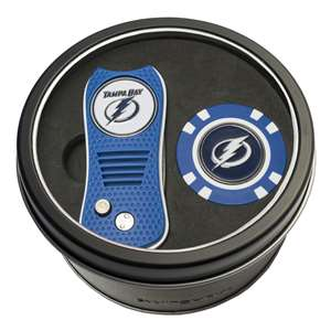 Tampa Bay Lightning Golf Tin Set - Switchblade, Golf Chip