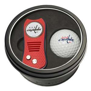 Washington Capitals Golf Tin Set - Switchblade, Golf Ball