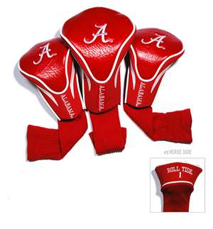 University of Alabama Crimson Tide Golf 3 Pack Contour Headcover 20194