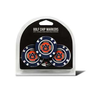 Auburn University Tigers Golf 3 Pack Golf Chip 20588
