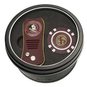 Florida State University Seminoles Golf Tin Set - Switchblade, Golf Chip
