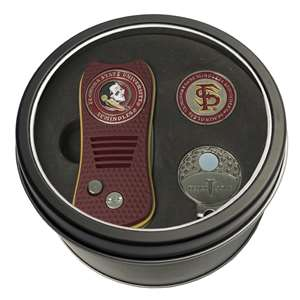 Florida State University Seminoles Golf Tin Set - Switchblade, Cap Clip, Marker 21057