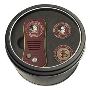 Florida State University Seminoles Golf Tin Set - Switchblade, 2 Markers 21059