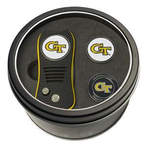 Georgia Tech Yellow Jackets Golf Tin Set - Switchblade, 2 Markers 21259
