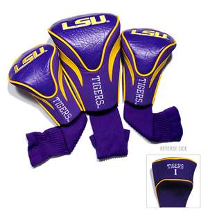 LSU Louisiana State University Tigers Golf 3 Pack Contour Headcover