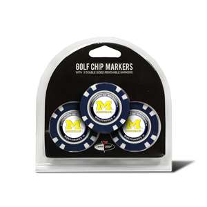 University of Michigan Wolverines Golf 3 Pack Golf Chip 22288
