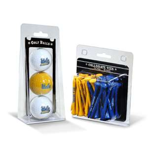 UCLA Bruins  3 Golf Balls And 50 Golf Tees