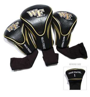 Wake Forest University Demon Deacons Golf 3 Pack Contour Headcover 23894