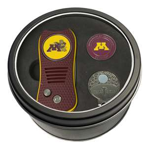 University of Minnesota Golden Gophers Golf Tin Set - Switchblade, Cap Clip, Marker 24357