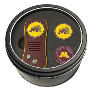 University of Minnesota Golden Gophers Golf Tin Set - Switchblade, 2 Markers 24359