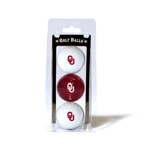 University of Oklahoma Sooners Golf 3 Ball Pack 24405