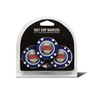 University of Mississippi Ole Miss Rebels Golf 3 Pack Golf Chip 24788