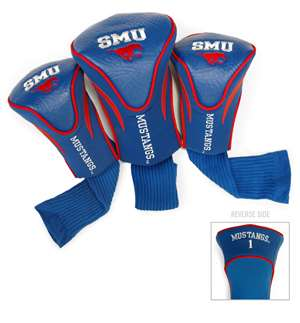 SMU Southern Methodist University Mustangs Golf 3 Pack Contour Headcover 25294